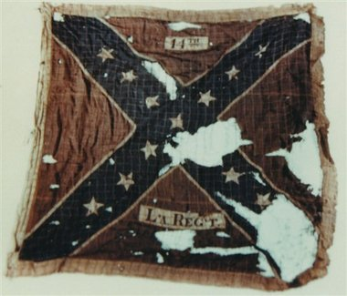 Original battleflag of 14th Louisiana