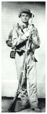 Confederate soldier from Louisiana, early war.